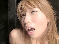 Asian tiny babe gets her wet pussy hammered