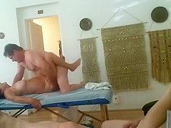 Cuckold Threesome In A Massage Salon