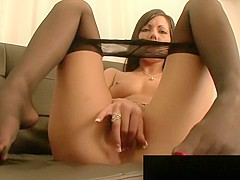 FetishNetwork Jade hot nylon pantyhose