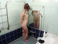 Hottest Japanese chick in Crazy Shower JAV movie