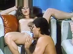 Dynamic retro movie with sexy lady