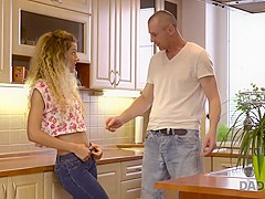 DADDY4K. Cute babe was in mood to have dirty fun with middle-aged guy