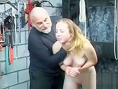 Extreme bondage with sexy mommy and young daughter