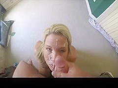 Hottest amateur blowjob, blonde, facial porn movie