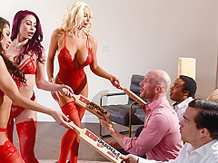 Madison Ivy & Monique Alexander & Nicolette Shea & Johnny Sins in 1 800 Phone Sex: Line 8 - Brazzers