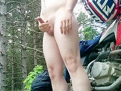 Jerking Off Outdoors On A Dirt Bike Ride And Cumming Multiple Times!