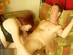 Pretty Redhair Milf Wife Make Ahell Of A Blowjob When Parents Leave House