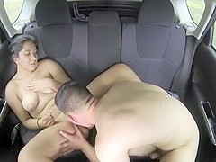 Latina backseat sex