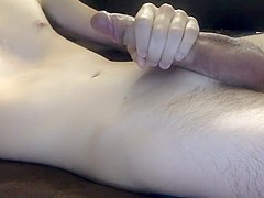 Hung Skinny Guy Masterbates and Shoots Huge Load!