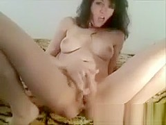 Horney MILF Fucking Her Pussy And A