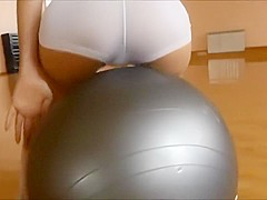 angel teases gym also anal quickie