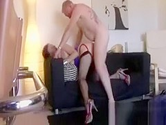 Mature lady in stockings gets a good fucking