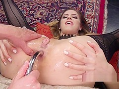 Butt Plugged And Anal Fisted Lesbian