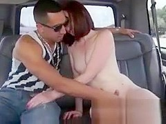 Pretty Red Head Sucking Dick In Backseat Of A Van