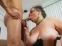 Raunchy Plump Is Feeling Fat Rod Stuffing Mouth And Vagina