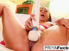 Priya Rai in Sexy Indian Milf Priya Rai Using Her Vibrator To Cum - PUBA