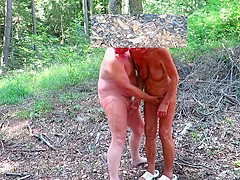 Wanking in the forest