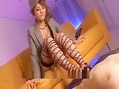 Stunning Asian Girl In Stockings Is Gives A Hot Blowjob