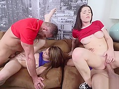 Elsa Dream Ride Her Pussy On Top Of Dads Large Rod