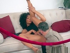 Ebony Babe Misty Stone Gets Dicked Down By Hung Boss