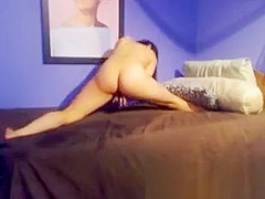 Latina with Perfect Ass Rides her Dildo to Orgasm