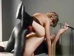 Two Chicks In Latex Fuck With Strap On