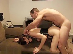 Girl Gets Fucked In Bondage And Gag