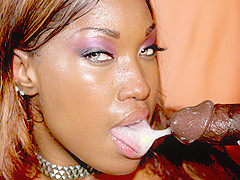 Ebony Bitch Loves To Swallow A Big Load - DaGFs