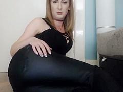 Farting Girl In Leather Leggings Video