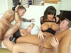 Big Tits Milf Foursome And Cumshot