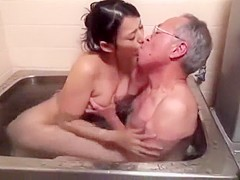 Pleasing Grandpa pt1- more at mantraporn.com