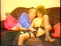 Old man fucks horny younger woman