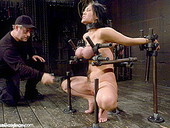 Claire Dames in Claire Dames  Huge tits brutally bound in metalhelpless to stop the pain or pleasure