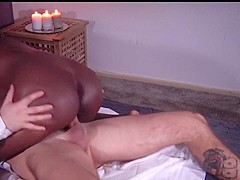 Latina get sensual massage with interracial sex and cum on ass - FULL HD