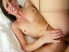 Girlfriend throats dick and gets a firm first time anal fuck
