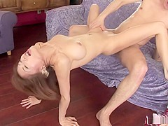 Akane Hotaru squirts while fucked in acrobatic positions