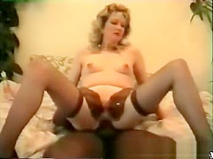 Vintage black dude fucks, white chick pussy out part 2