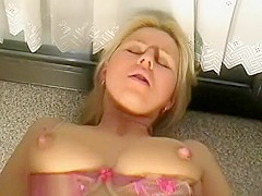 Blonde Girl Gets Her Tight Ass Fucked And Creampied