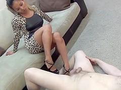 Asian girl sexy ballbusting