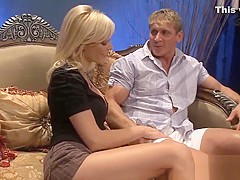 Raunchy Holly Gets Shagged In A Threesome