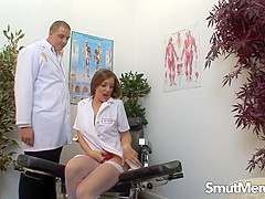 Naughty Nurse Cate Harrington Caught Masturbating and Boned by the Doctor