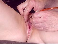 A Hot Milf Pumping Up Her Clit, part 1