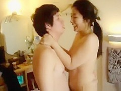 Exotic exclusive pussy eating, asian american, brunette sex scene