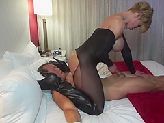 Goddess Rapture face sits and fucks her tied up sex slave