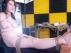 Chinese Model 沈迪 ShenDi - Bondage Shoot BTS 02