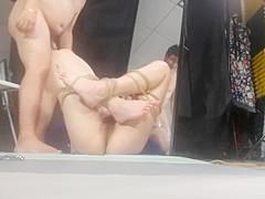 Chinese Model 丝丝 Sisi - Bondage Shoot BTS 02