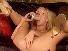 A Couple Of Lustful Stags Make A Teen Floozy Serve 2 Cocks