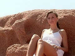 Spread legs in the sun