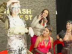 Euro Hoes Having Fun In Fetish Contest