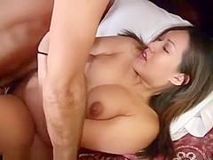 Beauty brunette having missionary sex